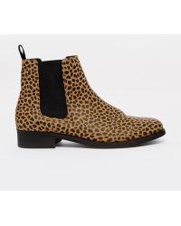 Monki - Selina Leopard Print Chelsea Boots - Lyst