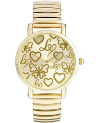 Lipsy - Gold Coloured Expander Watch with Gold Coloured Dial - Lyst