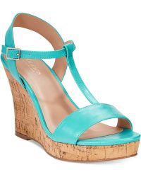 Charles by Charles David Libra Platform Wedge Sandals - Lyst