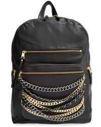 Ash - 'domino' Chain Leather Backpack - Lyst