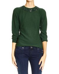 Armani Jeans Sweater Round Neck with Strass - Lyst