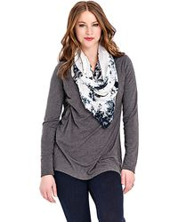 Lyssé Plus V Neck Top With Stretch Lining - Lyst