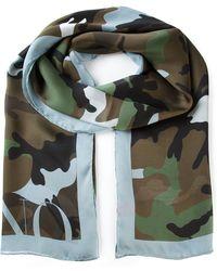 Valentino Rectangular Camouflage Scarf - Lyst