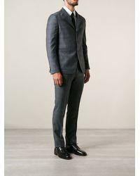 Tagliatore Check Print Suit - Lyst