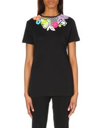 Christopher Kane Floral-print Cotton-jersey T-shirt - Lyst
