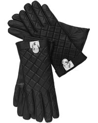 Michael Kors Michael Quilted Leather Hamilton Lock Gloves - Lyst