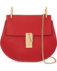 Chloé Drew Leather Over The Shoulder Handbag - Lyst