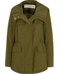 Burberry Brit - Hooded Cotton-blend Parka - Lyst