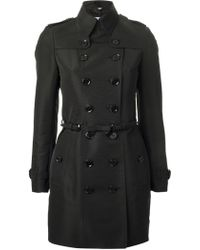 Burberry Short Trench Coat - Lyst