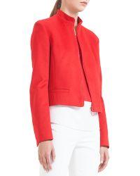 Akris Punto Mandarin-Collar Wool Zip Jacket - Lyst