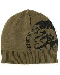 Diesel Jacquard Beanie Hat - Lyst