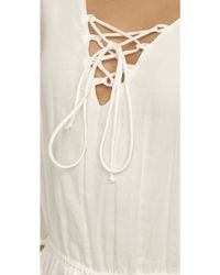Liv - Arie Lace Up Romper - Ivory - Lyst