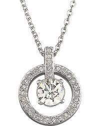 Swarovski Lavender Crystal Pendant Necklace - Lyst