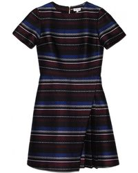 Suno Woven Stripes Mini Dress - Lyst