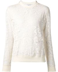 Givenchy Floral Lace Sweater - Lyst