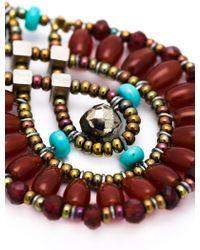 Ziio - Beaded Drop Earrings - Lyst