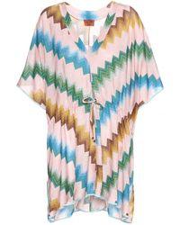 Missoni Mare Printed Crochet-Knit Dress - Lyst
