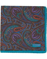 Duchamp - Zaina Paisley Pocket Square - Lyst