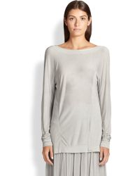 Donna Karan New York Cowl-Back Bateau Tunic - Lyst