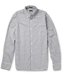 J.Crew Buttondown Collar Gingham Cotton Shirt - Lyst