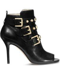 Michael Kors Bryn Open-Toe Leather Boot - Lyst