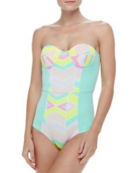 Zinke - Starboard Peplum Front One-piece Swimsuit - Lyst