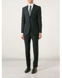 Z Zegna Check Print Suit - Lyst