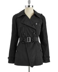 CALVIN KLEIN 205W39NYC - Short Doublebreasted Trench Coat - Lyst