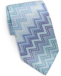 Missoni Graphic Zigzag Silk Tie - Lyst