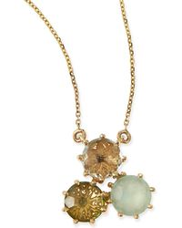 KALAN by Suzanne Kalan - Multi-stone Green Cluster Pendant Necklace - Lyst