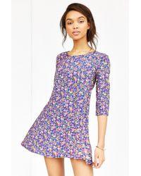 Kimchi Blue 3/4 Sleeve Voluminous Swingy Dress - Lyst