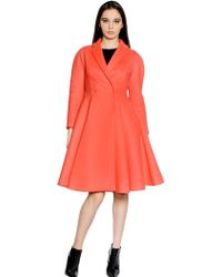 Giambattista Valli Wool Flared Coat - Lyst