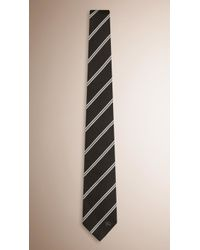 Burberry | Modern Cut Striped Silk Tie | Lyst