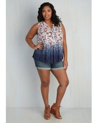 Eunina, Incorporated | Beauty At The Beach Shorts In Medium Wash - 1x-3x | Lyst