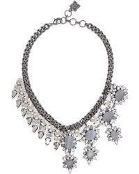BCBGMAXAZRIA Half-gemstone Spiked Necklace - Lyst