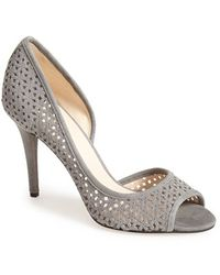 Nine West Women'S 'Dragonia' Perforated Half D'Orsay Pump - Lyst