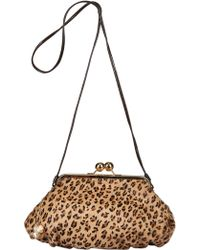 Diverso Italiano - Cristina Pony And Patent Shoulder Bag - Lyst
