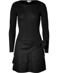 Paule Ka Wool Mixed Media Dress - Lyst