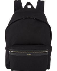 Saint Laurent Canvas Classic Backpack - Lyst