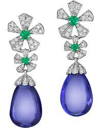 Mimi So - Wonderland Tanzanite Flower Drop Earrings - Lyst
