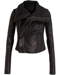 Rick Owens Classic Washed Leather Jacket - Lyst