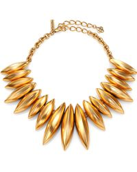 Oscar de la Renta Navette Disc Necklace - Lyst