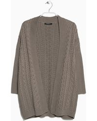 Mango Cable-knit Cardigan - Lyst