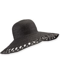 Eric Javits Maribel Cutout-Wide-Brim Hat - Lyst