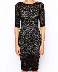 Tfnc Lace Body-conscious Midi Dress - Lyst