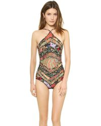Zimmermann Trinity Chevron One Piece Swimsuit - Splice - Lyst