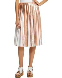 Raoul - Foil Pleated Skirt - Lyst