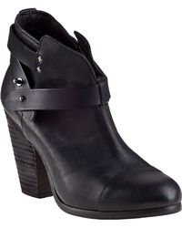 Rag & Bone Harrow Ankle Boot Black Leather - Lyst