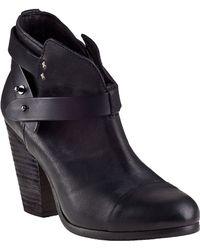 Rag & Bone Harrow Ankle Boot Black Leather - Lyst