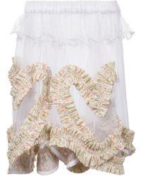 Mikio Sakabe - Frilly Sheer Skirt - Lyst